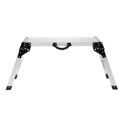 Finether 19.7 in High Aluminum Work Platform Drywall Step Up Folding Work Bench Stool Ladder