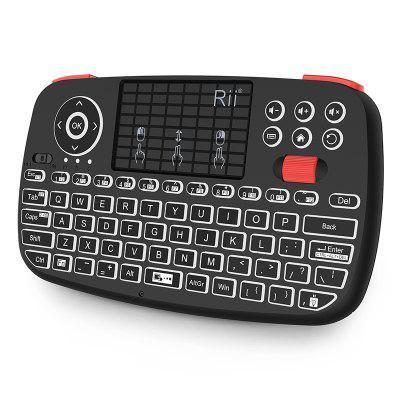 Rii i4 Mini Bluetooth Keyboard 2.4GHz Dual Modes Handheld Fingerboard Backlit