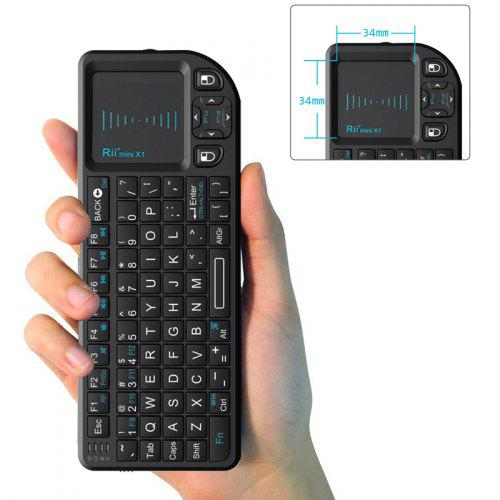 Rii Mini X1 Wireless Keyboard 2.4G Flying Mouse Handheld Touchpad