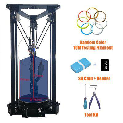 SinisT1 Delta 3D Printer 3D DIY Printer with Optional 1500MW Laser Engraver Printing Size 180x320MM