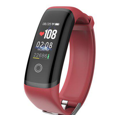 sosnsky Smart band M4 Bracelet Heart Rate Fitness Color Screen Blue tooth_Red _27 functions