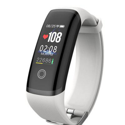 sosnsky Smart band M4 Bracelet Heart Rate Fitness Color Screen Blue tooth_White _27 functions
