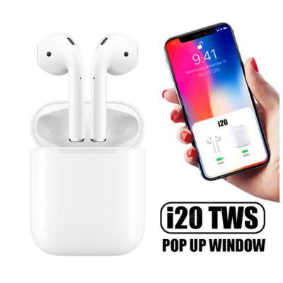 i20 TWSBluetooth wireless sports Touch Control Pop-up Headphone for iOS and Android