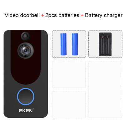 EKEN V7 HD 1080P Smart WiFi Video Doorbell Camera Visual Intercom Night vision IP Door Bell