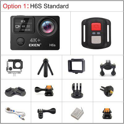 EKEN H6S 4K Action Camera with Ambarella A12 chip 30M waterproof sport Cam Image
