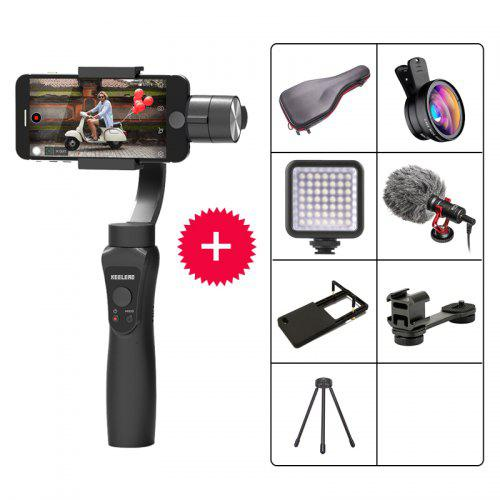 Durable ABS 3 Axis Handheld Smartphone Gimbal Stabilizer Two Way Charging 5 Hours RunnTime for Camera Smartphone with Focus Pull Zoom Capality