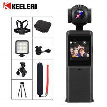 KEELEAD P6A 3-assige 4K HD Pocket Handheld Gimbal Camera Stabilizer Ingebouwde Wi-Fi Smart Track vlog pocket camera