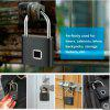 Safety Keyless Lock USB Battery Door Lock Fingerprint Smart Padlock  - Black