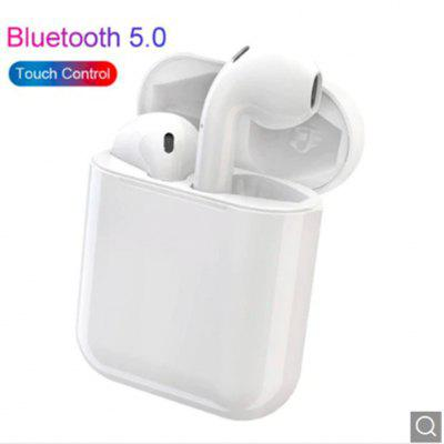 i13  Touch Control Bluetooth Earphones Super Bass Stereo Earbuds - white