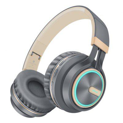Picun B6 Bluetooth Headphones Over Ear Wireless Headsets with Cool 7 Color LED Light  For phone
