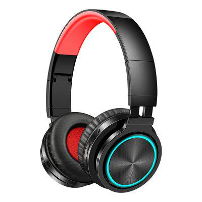 Picun B12 Wireless Headphones Bluetooth 5.0 Headphone Glowing Earphone With Mic For Phone PC