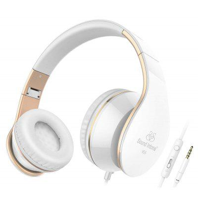Picun I65 Wired Headphones With Mic Over Ear Headphone Bass Stereo HiFi Sound for phone PC