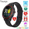 Tourya S18 Smart Watch Blood Pressure Waterproof Color Full Touch Sport Round Men Women Band
