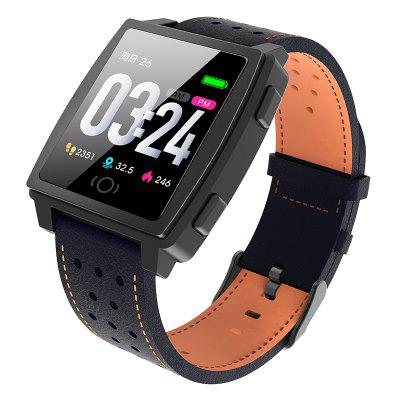 Tourya CK22 Smart Watch Android IOS Sports Bracelet Color Activity Call Message Leather Band