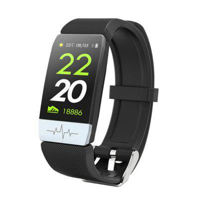Tourya Q1S Smart Bracelet Android IOS Sports Band ECG Heart Rate Fitness Tracker Color Watch
