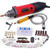 GOXAWEE Electric Drill Mini Rotary Too Kit Multifunctional Power Tool Set with Flex Shaft For Dremel
