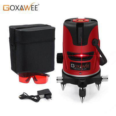 GOXAWEE Red laser level 360 Degree Cross Line Rotary Level Measuring Instruments 5 lines 6 points