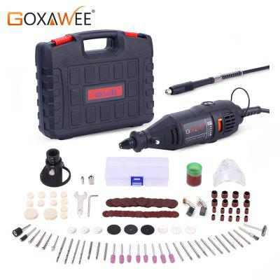 GOXAWEE Power Tools Electric Mini Drill with 0.3_3.2mm Universal Chuck and Shiled Rotary Tools Kit