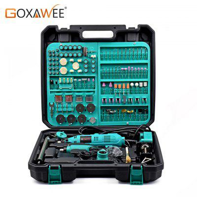 GOXAWEE 2Pcs Electric Mini Drill Dremel Style Rotary Tool Variable Speed with Accessory Power Tools