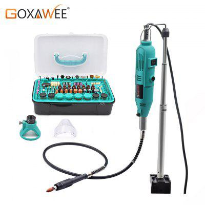 GOXAWEE Electric Mini Drill Power Tools Rotary Tools Accessories with Flex Shaft Hanger For Dremel