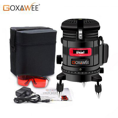 GOXAWEE Laser Level 360 Degree 3D Red Beam Cross Line Laser Level Measuring Instruments Tripod