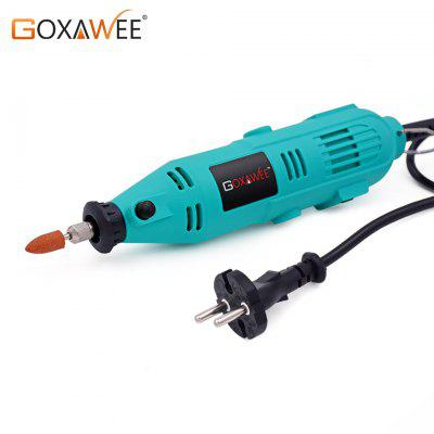 GOXAWEE 220V Mini Drill Electric Rotary Tool with Flexible Shaft Accessories Power Tools for Dremel