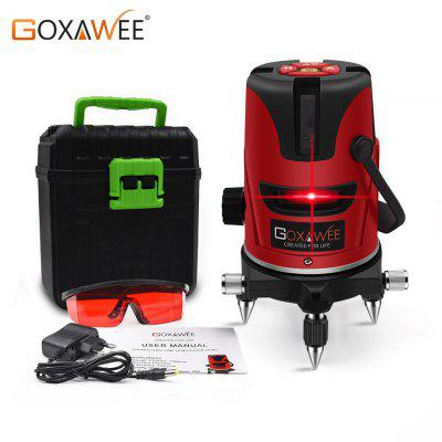 GOXAWEE Laser Level 5 Lines 6 Points 360 Degree Rotary Cross Line Self-Levelling Measuring Tools