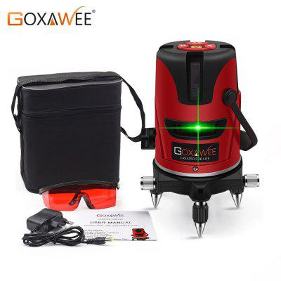 GOXAWEE 5 Lines 6 Points Laser Level Green Laser Lines Multipurpose Cross-Line Outdoor Tilt Mode