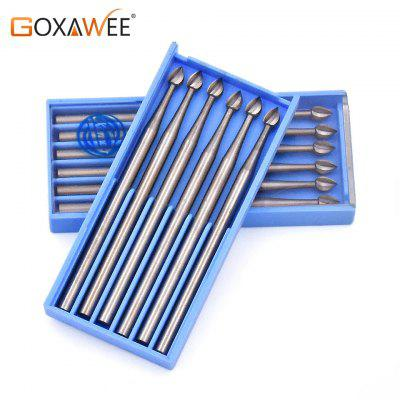 Steel Burs with Bud Shape Drill  Wood Carving Tools For Dremel Accessories Abrasive Roatry Tools