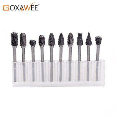 Tungsten Carbide Rotary Burrs Set 10pcs Dremel Accessories for Rotary Tools
