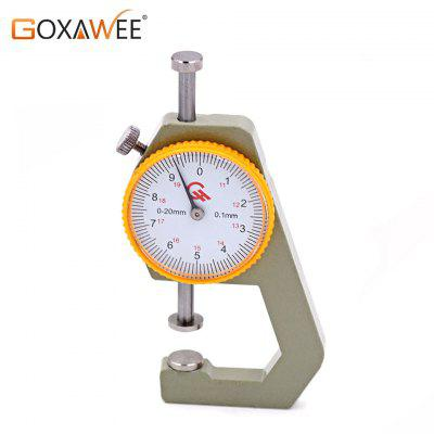 Jewelry Tools from 0-20mm by 0.1 mm Leather Craft Tools Pocket Round Dial Thickness Measuring Tool