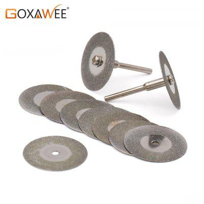 10pcs a set 30mm Mini Diamond Saw Blade Silver Cutting Discs   Circular Saw Abrasive Sawblade