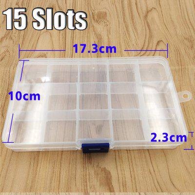 Plastic Jewelry Adjustable Tool Box Case Craft Organizer Storage Beads Convenient Case Tackle Boxes