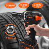20V Brushless Cordless Electric Wrench Impact Driver Socket Wrench 4000mAh Battery Hand Drill