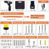 12V Electric Drill Screwdriver Cordless Lithium Battery Rechargeable Drill Multi-function Power Tool
