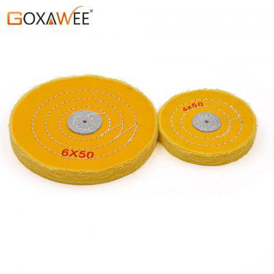 2pcs Yellow Cotton Lint Cloth Buffing Wheel Gold Silver Jewelry Mirror Hardware Polishing Wheel Tool