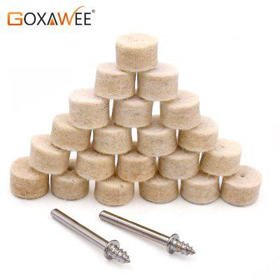 Goxawee 50pcs Wool Buffing Polishing Wheels Pads With 3mm Mandrel Shank 3pcs for Dremel rotary tools