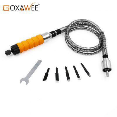 GOXAWEE Engraving Handpiece Flex Shaft Wood Chisel Carving Tools Woodworking For Electric Drill