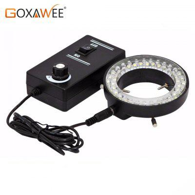 GOXAWEE Adjustable LED Ring Light Illuminator Lamp For Industry STEREO ZOOM Microscope 60000LM 6500K