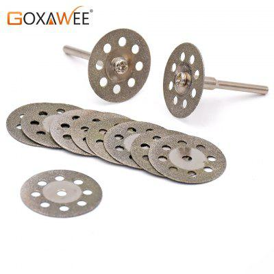 Goxawee 25mm Dremel Accessories diamond grinding wheel 10pcs circular saw cutting disc Abrasive disc