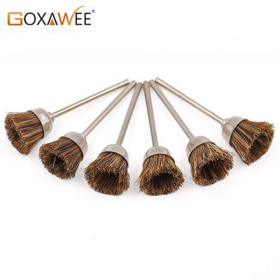 GOXAWEE 30pcs Goat Hair Polishing Wheel Brush Cup for Dremel Accessories Engraver Abrasive Brushes