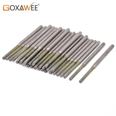 30pcs Diamond Drill Bits Diamond Burs For Jewelry Gems Glass Tile Ceramic Holing Drilling Power Tool