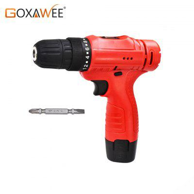 GOXAWEE 12V Electric Screwdriver Mini Cordless Drill Wireless Power Multi-function Tools Screwdriver