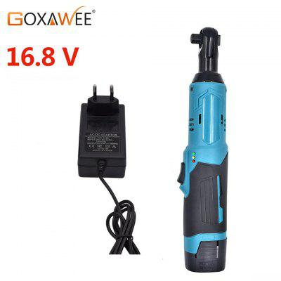 GOXAWEE 12V Electric Wrench Cordless Ratchet Wrench Rechargeable Torque Ratchet With Sockets Tools