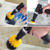 GOXAWEE 3PCS Power Scrubber Drill Brush Cleaning for Bathroom Leather Cordless Power Cleaning Kit