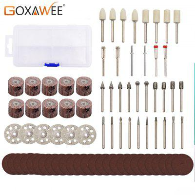 GOXAWEE 87pcs Rotary Tools Accessories Kit For Dremel Electric Mini Drill Engraving Grinding Cutting