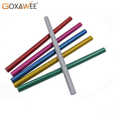 GOXAWEE 30pcs Colorful Hot Melt Glue Sticks For Electric Glue Gun Craft DIY Hand Repair Accessories