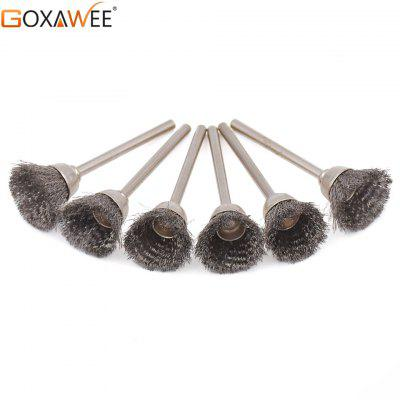 GOXAWEE 24pcs For Dremel Brush Brass Wire Brush Polishing Wheels Set Rotary Tool Power Accessories