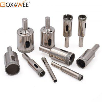 Goxawee 6-30mm Diamond Coated Core Hole Saw Drill Bits Tool Cutter For Tiles Marble Glass Granite