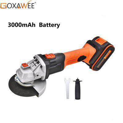 GOXAWEE Electric Cordless Angle Grinder Rechargeable Lithium Battery Grinding Machine Power Tools